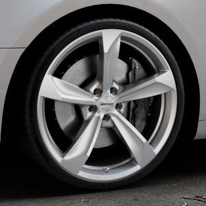 Borbet S brilliant silver Felge mit Reifen silber in 20Zoll Winterfelge Alufelge auf silbernem Audi A5 Typ B9 (Coupé) (Cabriolet) ⬇️ mit 15mm Tieferlegung ⬇️ Industriehalle 1 Thumbnail