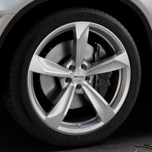 Borbet S brilliant silver Felge mit Reifen silber in 20Zoll Winterfelge Alufelge auf silbernem BMW X6 Typ E71 (X70, X6, X-N1, HY) ⬇️ mit 15mm Tieferlegung ⬇️ Industriehalle 1 Thumbnail