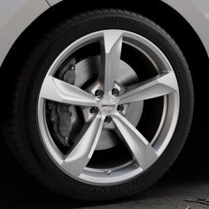 Borbet S brilliant silver Felge mit Reifen silber in 20Zoll Winterfelge Alufelge auf silbernem Ford Edge Typ SBF ⬇️ mit 15mm Tieferlegung ⬇️ Industriehalle 1 Thumbnail