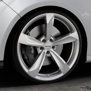 Borbet S brilliant silver Felge mit Reifen silber in 20Zoll Winterfelge Alufelge auf silbernem Ford Focus III Typ DYB (Schrägheck) (Stufenheck) Facelift ⬇️ mit 15mm Tieferlegung ⬇️ Industriehalle 1 Thumbnail