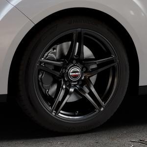 Borbet XRT black glossy Felge mit Reifen schwarz in 17Zoll Winterfelge Alufelge auf silbernem Ford Grand C-Max Typ DXA Facelift (15->) ⬇️ mit 15mm Tieferlegung ⬇️ Industriehalle 1 Thumbnail