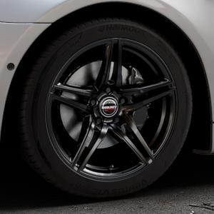 Borbet XRT black glossy Felge mit Reifen schwarz in 18Zoll Winterfelge Alufelge auf silbernem BMW 640i Typ F12 (Cabrio) 640d 650i xDrive ⬇️ mit 15mm Tieferlegung ⬇️ Industriehalle 1 Thumbnail