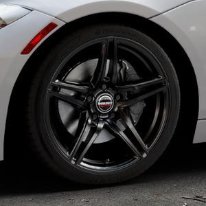 Borbet XRT black glossy Felge mit Reifen schwarz in 18Zoll Winterfelge Alufelge auf silbernem BMW Z4 Roadster Typ E89 (Z89, ZR) ⬇️ mit 15mm Tieferlegung ⬇️ Industriehalle 1 Thumbnail