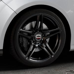 Borbet XRT black glossy Felge mit Reifen schwarz in 18Zoll Winterfelge Alufelge auf silbernem Ford Focus III Typ DYB (Schrägheck) (Stufenheck) Facelift ⬇️ mit 15mm Tieferlegung ⬇️ Industriehalle 1 Thumbnail