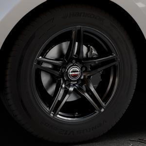 Borbet XRT black glossy Felge mit Reifen schwarz in 18Zoll Winterfelge Alufelge auf silbernem Land Rover Range Velar Typ LY ⬇️ mit 15mm Tieferlegung ⬇️ Industriehalle 1 Thumbnail