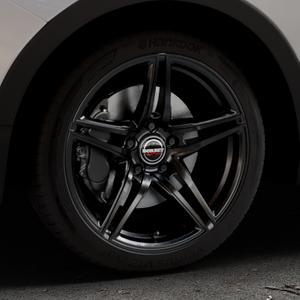 Borbet XRT black glossy Felge mit Reifen schwarz in 18Zoll Winterfelge Alufelge auf silbernem Ssangyong Tivoli Typ XK ⬇️ mit 15mm Tieferlegung ⬇️ Industriehalle 1 Thumbnail