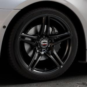 Borbet XRT black glossy Felge mit Reifen schwarz in 19Zoll Winterfelge Alufelge auf silbernem BMW 640i Typ F12 (Cabrio) 640d 650i xDrive ⬇️ mit 15mm Tieferlegung ⬇️ Industriehalle 1 Thumbnail