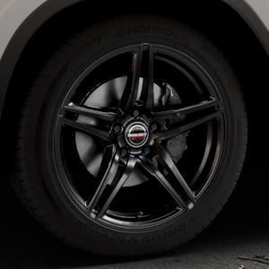 Borbet XRT black glossy Felge mit Reifen schwarz in 19Zoll Winterfelge Alufelge auf silbernem BMW X3 Typ G01 (G3X) ⬇️ mit 15mm Tieferlegung ⬇️ Industriehalle 1 Thumbnail