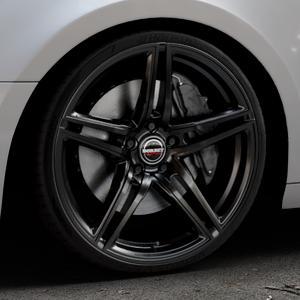 Borbet XRT black glossy Felge mit Reifen schwarz in 20Zoll Winterfelge Alufelge auf silbernem Audi A4 Typ B9 (Avant) ⬇️ mit 15mm Tieferlegung ⬇️ Industriehalle 1 Thumbnail