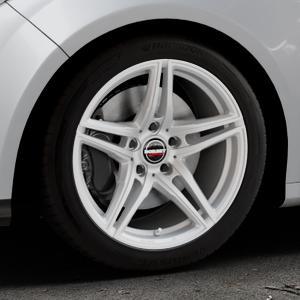 Borbet XRT brilliant silver Felge mit Reifen silber in 17Zoll Winterfelge Alufelge auf silbernem Ford Focus III Typ DYB (Schrägheck) (Stufenheck) Facelift ⬇️ mit 15mm Tieferlegung ⬇️ Industriehalle 1 Thumbnail