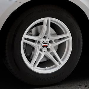 Borbet XRT brilliant silver Felge mit Reifen silber in 17Zoll Winterfelge Alufelge auf silbernem Volvo XC60 Typ D Facelift ⬇️ mit 15mm Tieferlegung ⬇️ Industriehalle 1 Thumbnail