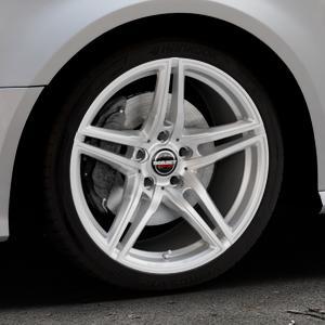 Borbet XRT brilliant silver Felge mit Reifen silber in 18Zoll Winterfelge Alufelge auf silbernem Audi A3 Typ 8V Facelift ⬇️ mit 15mm Tieferlegung ⬇️ Industriehalle 1 Thumbnail