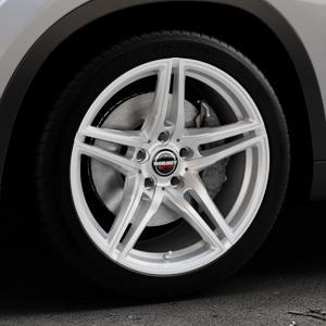 Borbet XRT brilliant silver Felge mit Reifen silber in 18Zoll Winterfelge Alufelge auf silbernem BMW X1 Typ E84 (X1, X-N1, X1-N1) ⬇️ mit 15mm Tieferlegung ⬇️ Industriehalle 1 Thumbnail
