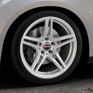 Borbet XRT brilliant silver Felge mit Reifen silber in 18Zoll Winterfelge Alufelge auf silbernem Ford Focus III Typ DYB Facelift (Schrägheck) ⬇️ mit 15mm Tieferlegung ⬇️ Industriehalle 1 Thumbnail