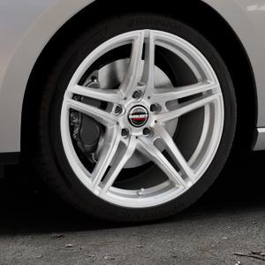 Borbet XRT brilliant silver Felge mit Reifen silber in 18Zoll Winterfelge Alufelge auf silbernem Seat Leon Typ 5F ST Facelift ⬇️ mit 15mm Tieferlegung ⬇️ Industriehalle 1 Thumbnail