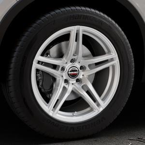 Borbet XRT brilliant silver Felge mit Reifen silber in 18Zoll Winterfelge Alufelge auf silbernem Volvo XC40 Typ X ⬇️ mit 15mm Tieferlegung ⬇️ Industriehalle 1 Thumbnail