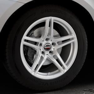 Borbet XRT brilliant silver Felge mit Reifen silber in 18Zoll Winterfelge Alufelge auf silbernem Volvo XC60 Typ D Facelift ⬇️ mit 15mm Tieferlegung ⬇️ Industriehalle 1 Thumbnail