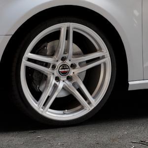 Borbet XRT brilliant silver Felge mit Reifen silber in 19Zoll Winterfelge Alufelge auf silbernem Audi A3 Typ 8V ⬇️ mit 15mm Tieferlegung ⬇️ Industriehalle 1 Thumbnail