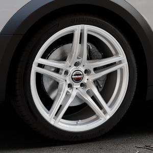 Borbet XRT brilliant silver Felge mit Reifen silber in 19Zoll Winterfelge Alufelge auf silbernem Audi A4 Typ B9 Allroad ⬇️ mit 15mm Tieferlegung ⬇️ Industriehalle 1 Thumbnail