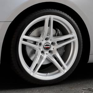 Borbet XRT brilliant silver Felge mit Reifen silber in 19Zoll Winterfelge Alufelge auf silbernem Audi A5 Typ B9 (Coupé) (Cabriolet) ⬇️ mit 15mm Tieferlegung ⬇️ Industriehalle 1 Thumbnail