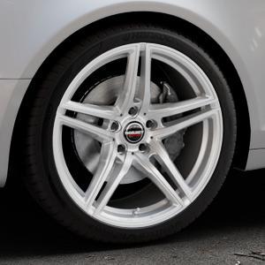 Borbet XRT brilliant silver Felge mit Reifen silber in 19Zoll Winterfelge Alufelge auf silbernem Audi A6 Typ 4F/C6 (Avant) ⬇️ mit 15mm Tieferlegung ⬇️ Industriehalle 1 Thumbnail