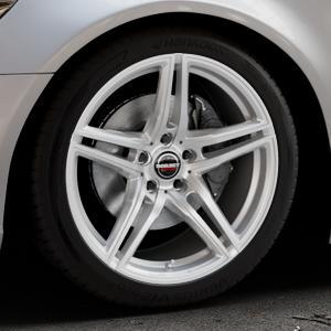 Borbet XRT brilliant silver Felge mit Reifen silber in 19Zoll Winterfelge Alufelge auf silbernem Audi A6 Typ 4G/C7 (Limousine) ⬇️ mit 15mm Tieferlegung ⬇️ Industriehalle 1 Thumbnail