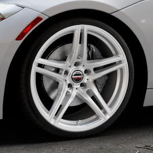 Borbet XRT brilliant silver Felge mit Reifen silber in 19Zoll Winterfelge Alufelge auf silbernem BMW Z4 Roadster Typ E89 (Z89, ZR) ⬇️ mit 15mm Tieferlegung ⬇️ Industriehalle 1 Thumbnail