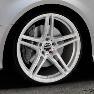 Borbet XRT brilliant silver Felge mit Reifen silber in 20Zoll Winterfelge Alufelge auf silbernem Audi A3 Typ 8V Facelift ⬇️ mit 15mm Tieferlegung ⬇️ Industriehalle 1 Thumbnail