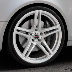 Borbet XRT brilliant silver Felge mit Reifen silber in 20Zoll Winterfelge Alufelge auf silbernem Audi A6 Typ 4F/C6 (Avant) ⬇️ mit 15mm Tieferlegung ⬇️ Industriehalle 1 Thumbnail