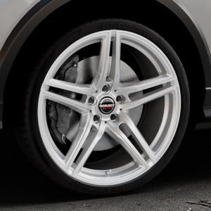 Borbet XRT brilliant silver Felge mit Reifen silber in 20Zoll Winterfelge Alufelge auf silbernem Audi Q2 Typ GA ⬇️ mit 15mm Tieferlegung ⬇️ Industriehalle 1 Thumbnail
