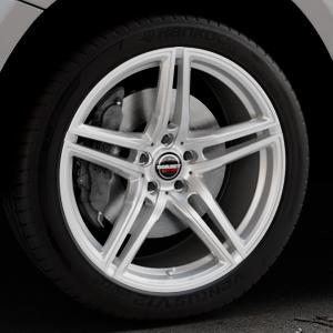 Borbet XRT brilliant silver Felge mit Reifen silber in 20Zoll Winterfelge Alufelge auf silbernem Audi Q5 I Typ 8R ⬇️ mit 15mm Tieferlegung ⬇️ Industriehalle 1 Thumbnail