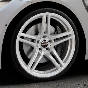 Borbet XRT brilliant silver Felge mit Reifen silber in 20Zoll Winterfelge Alufelge auf silbernem BMW M4 Typ F83 (Cabrio) 3,0l 317kW (431 PS) ⬇️ mit 15mm Tieferlegung ⬇️ Industriehalle 1 Thumbnail