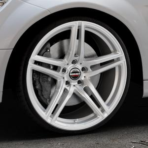 Borbet XRT brilliant silver Felge mit Reifen silber in 20Zoll Winterfelge Alufelge auf silbernem Mercedes C-Klasse Typ W204 Limousine ⬇️ mit 15mm Tieferlegung ⬇️ Industriehalle 1 Thumbnail