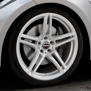 Borbet XRT brilliant silver Felge mit Reifen silber in 20Zoll Winterfelge Alufelge auf silbernem Tesla Model S Typ 002 ⬇️ mit 15mm Tieferlegung ⬇️ Industriehalle 1 Thumbnail