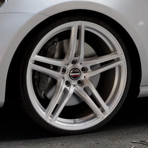 Borbet XRT brilliant silver Felge mit Reifen silber in 20Zoll Winterfelge Alufelge auf silbernem Volkswagen (VW) Golf 7 ⬇️ mit 15mm Tieferlegung ⬇️ Industriehalle 1 Thumbnail