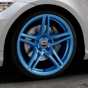 Borbet XRT candy blue Felge mit Reifen blau in 19Zoll Alufelge auf silbernem BMW 318i Typ E90 (Limousine) 320i 335i 335d 318d 320d 325i 330i 330d 316i 325xi 330xi 325d 330xd 320si M3 (M390) 320xd 316d 335xi 323i ⬇️ mit 15mm Tieferlegung ⬇️ Industriehalle 1 Thumbnail