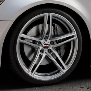 Borbet XRT graphite polished Felge mit Reifen grau silber mehrfarbig in 20Zoll Alufelge auf silbernem Audi A6 Typ 4G/C7 (Limousine) ⬇️ mit 15mm Tieferlegung ⬇️ Industriehalle 1 Thumbnail