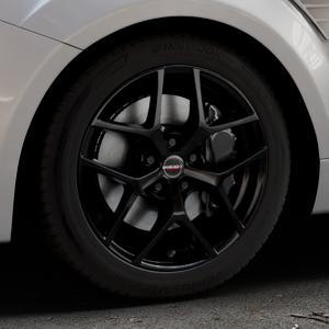Borbet Y black glossy Felge mit Reifen schwarz in 17Zoll Winterfelge Alufelge auf silbernem Ford Focus II Typ DA3 (Schrägheck) 2,5l RS 224kW (305 PS) RS500 257kW (349 ⬇️ mit 15mm Tieferlegung ⬇️ Industriehalle 1 Thumbnail