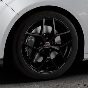 Borbet Y black glossy Felge mit Reifen schwarz in 17Zoll Winterfelge Alufelge auf silbernem Ford Focus III Typ DYB (Schrägheck) (Stufenheck) Facelift ⬇️ mit 15mm Tieferlegung ⬇️ Industriehalle 1 Thumbnail