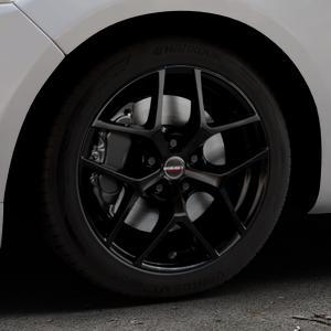 Borbet Y black glossy Felge mit Reifen schwarz in 17Zoll Winterfelge Alufelge auf silbernem Ford Mondeo IV Limousine Typ BA7 Turnier Fließheck ⬇️ mit 15mm Tieferlegung ⬇️ Industriehalle 1 Thumbnail