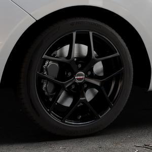 Borbet Y black glossy Felge mit Reifen schwarz in 17Zoll Winterfelge Alufelge auf silbernem Hyundai ix20 Typ JC ⬇️ mit 15mm Tieferlegung ⬇️ Industriehalle 1 Thumbnail