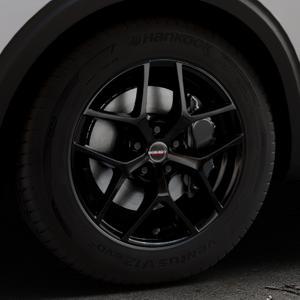 Borbet Y black glossy Felge mit Reifen schwarz in 17Zoll Winterfelge Alufelge auf silbernem Peugeot 5008 Typ M ⬇️ mit 15mm Tieferlegung ⬇️ Industriehalle 1 Thumbnail