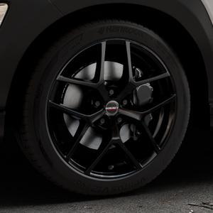 Borbet Y black glossy Felge mit Reifen schwarz in 18Zoll Winterfelge Alufelge auf silbernem Hyundai Kona Typ OS ⬇️ mit 15mm Tieferlegung ⬇️ Industriehalle 1 Thumbnail