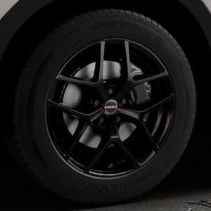 Borbet Y black glossy Felge mit Reifen schwarz in 18Zoll Winterfelge Alufelge auf silbernem Mazda CX-5 Typ KE ⬇️ mit 15mm Tieferlegung ⬇️ Industriehalle 1 Thumbnail