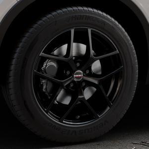 Borbet Y black glossy Felge mit Reifen schwarz in 18Zoll Winterfelge Alufelge auf silbernem Volvo XC40 Typ X ⬇️ mit 15mm Tieferlegung ⬇️ Industriehalle 1 Thumbnail