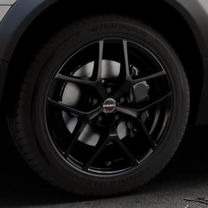 Borbet Y black glossy Felge mit Reifen schwarz in 18Zoll Winterfelge Alufelge auf silbernem Volvo XC70 II Typ B ⬇️ mit 15mm Tieferlegung ⬇️ Industriehalle 1 Thumbnail