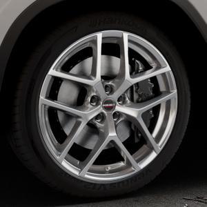 Borbet Y hyper silver Felge mit Reifen silber in 20Zoll Winterfelge Alufelge auf silbernem BMW X3 Typ G01 (G3X) ⬇️ mit 15mm Tieferlegung ⬇️ Industriehalle 1 Thumbnail