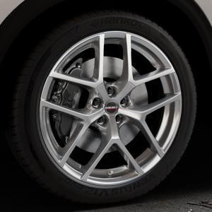 Borbet Y hyper silver Felge mit Reifen silber in 20Zoll Winterfelge Alufelge auf silbernem Mazda CX-5 Typ KF ⬇️ mit 15mm Tieferlegung ⬇️ Industriehalle 1 Thumbnail