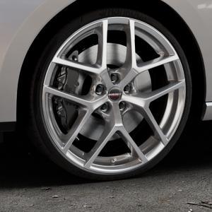 Borbet Y hyper silver Felge mit Reifen silber in 20Zoll Winterfelge Alufelge auf silbernem Seat Leon Typ 5F ST Facelift ⬇️ mit 15mm Tieferlegung ⬇️ Industriehalle 1 Thumbnail