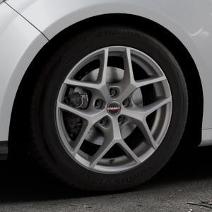 Borbet Y titan matt Felge mit Reifen grau in 16Zoll Winterfelge Alufelge auf silbernem Ford Focus III Typ DYB (Schrägheck) (Stufenheck) Facelift ⬇️ mit 15mm Tieferlegung ⬇️ Industriehalle 1 Thumbnail